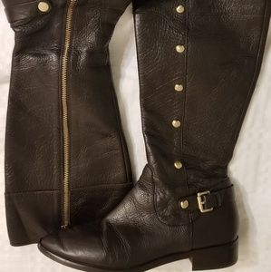 Michael Kors brown leather  boots size 9M